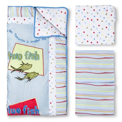 Dr. Seuss by Trend Lab 3pc Crib Bedding Set – One Fish, Two Fish
