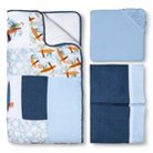 Trend Lab Surf'S Up 3Pc Crib Bedding Set - Blue/Orange