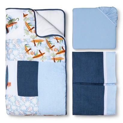 Trend Lab Surf'S Up 3Pc Crib Bedding Set - Blue/Orange