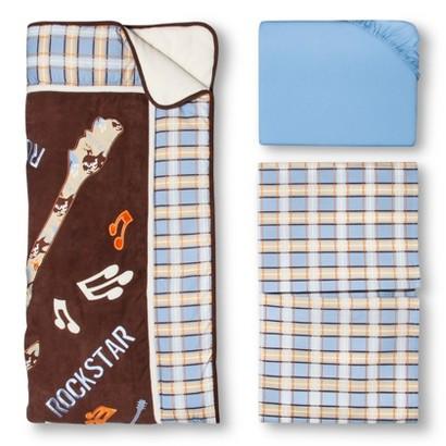 Trend Lab Rockstar 3Pc Crib Bedding Set - Blue/Brown