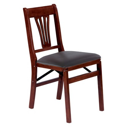 Stakmore Folding Chair with Cream Seat - Cherry