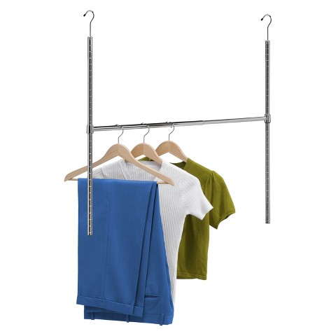 Honey-Can-Do Adjustable Hanging Closet Rod - Silver