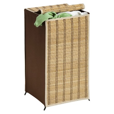 ECOM Honey-Can-Do Tall Wicker Hamper - Brown