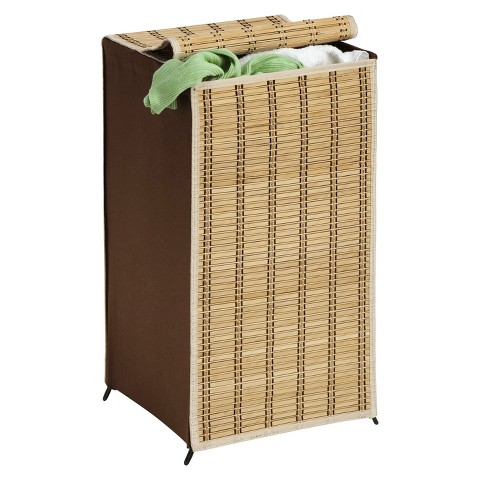 Honey-Can-Do Tall Wicker Hamper - Brown