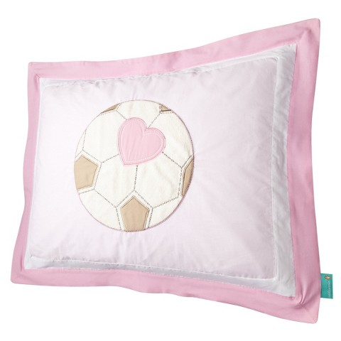 Tiddliwinks Girls Sport Pillow Sham - Pink