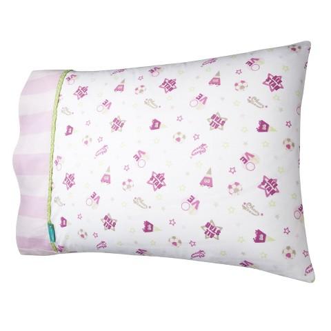 Tiddliwinks Girls Sport Pillowcase - Pink