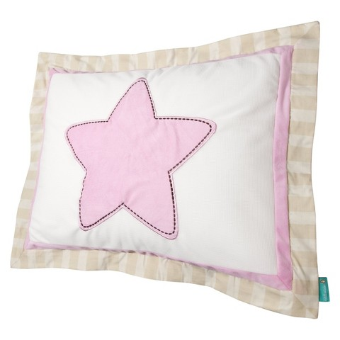 Tiddliwinks Star Pillow Sham - Pink