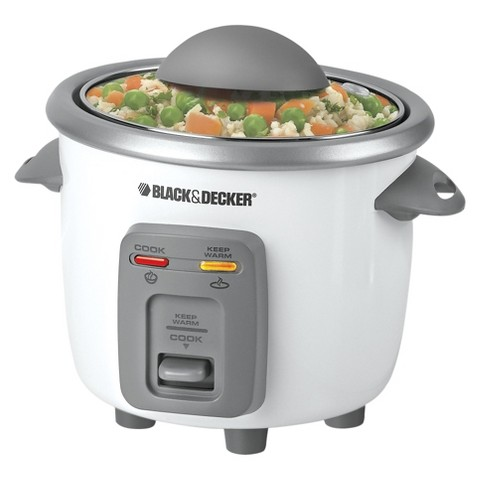 BLACK + DECKER White Rice Cooker