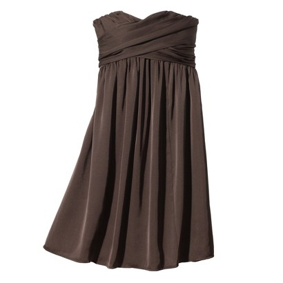 TEVOLIO™  Women's Satin Strapless Dress - Neutral Colors