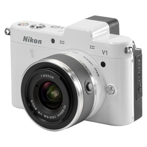 Nikon 1 V1 10.1MP Digital Camera with 3x Optical Zoom - White