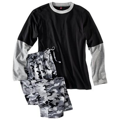 Hanes® Men's Tee & Pants Sleep Set - Black