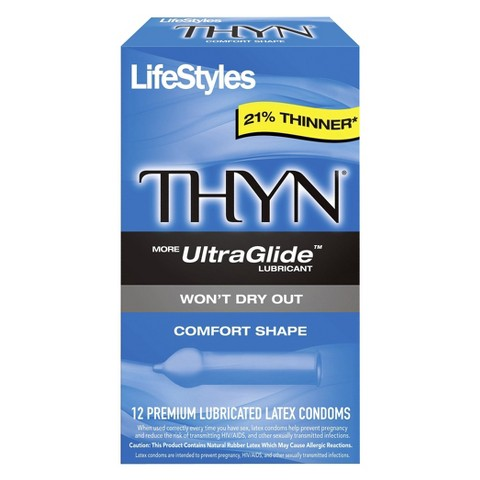 LifeStyles® Thyn Ultra Glide Condoms - 12 Count