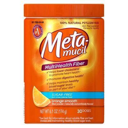 Metamucil Orange Daily Fiber Sugar Free Supplement