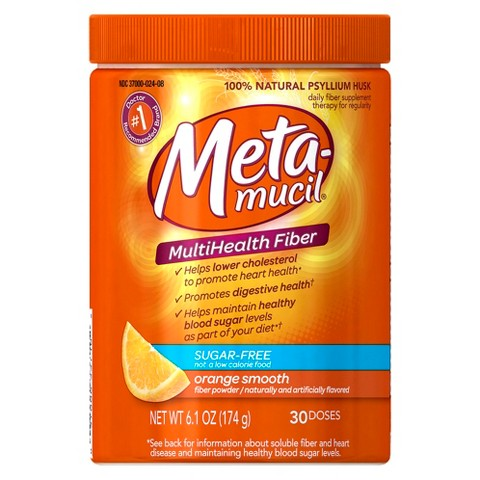 Metamucil® Orange Sugar Free Multihealth Fiber Powder