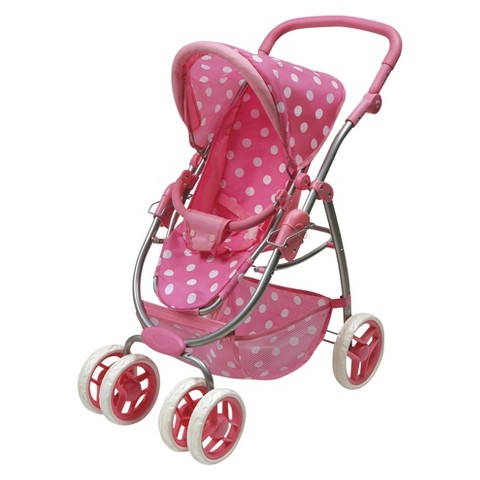 Badger Basket Six Wheel Doll Stroller and Carrier