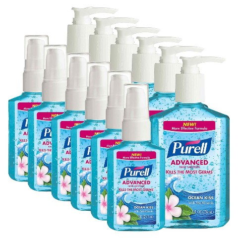 Purell Advanced Hand Sanitizer Ocean Kiss - 2oz (6 Pack) , 8oz (6 Pack)