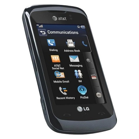 LG GT550 Encore Unlocked Cell Phone for GSM Compatible - Black