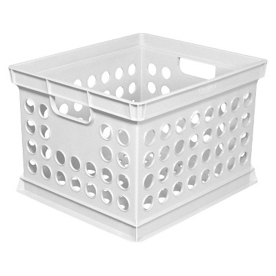 Milk Crate Storage Bin - White - Room Essentials™
