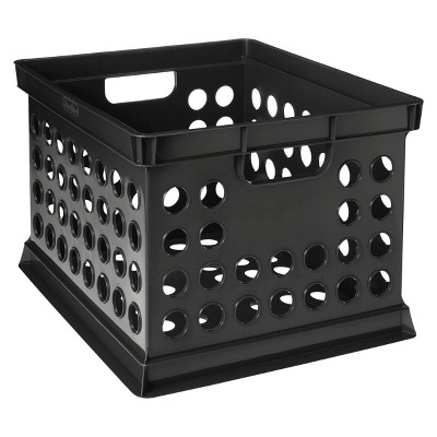 Milk Crate Storage Bin - Black - Room Essentials™