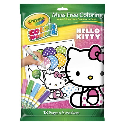 Crayola Color Wonder Markers and Paper - Hello Kitty