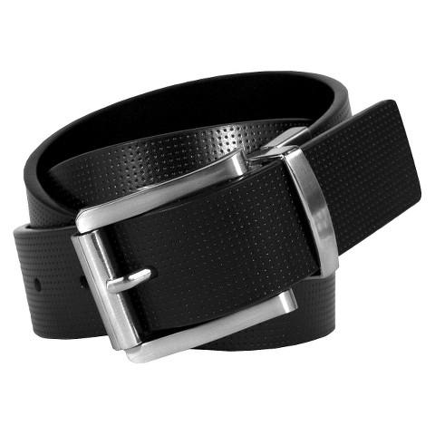 Swiss Gear Men's Genuine Leather Textured Belt - Black