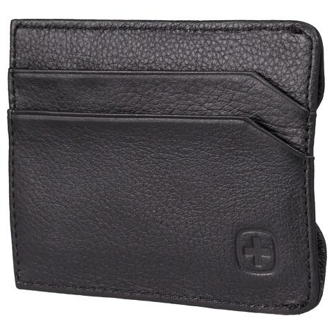 Swiss Gear - Men's Sierre Front Pocket Wallet Black