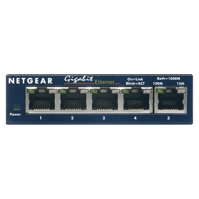 Netgear Prosafe 5 Port Gigabit Switch - Blue (GS105)