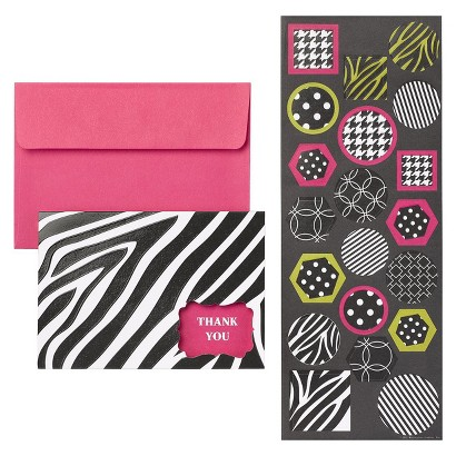 Thank You Cards - Black/White (20 Counts)