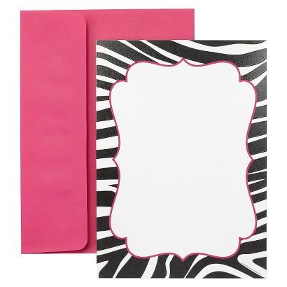 Flat Invitation Card - Black/White (30 Counts)