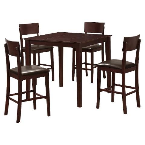 5 Piece Pub Table Set - Espresso