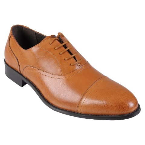 Men's Boston Traveler Leather Lace-up Oxfords - Rust