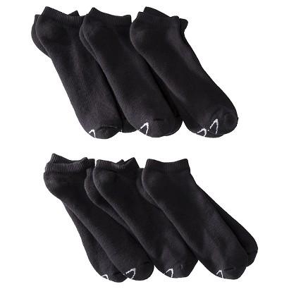 C9 by Champion® Men's 6pr Extended Size No Show Socks - Black