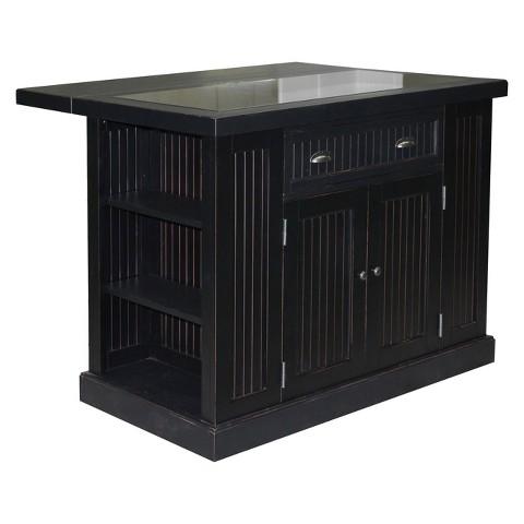 home styles nantucket kitchen island black