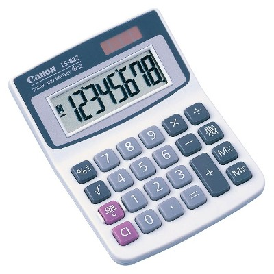 Canon LS-82Z Basic Solar Calculator - White (4075A010)