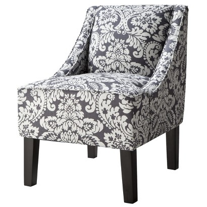 Hudson Swoop Chair - Gray/White