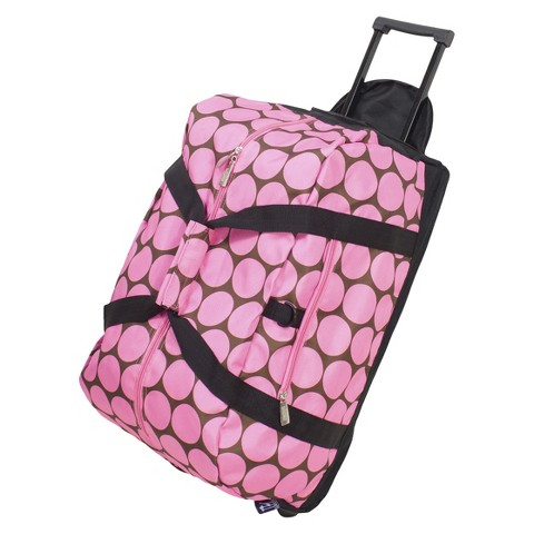 Wildkin Big Dots Good Times Rolling Duffel - Pink