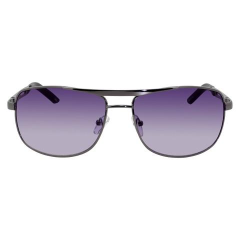 Gradient Smoke Sunglasses with Gunmetal Frame