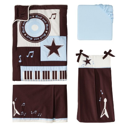Lambs & Ivy Rock N' Roll 5 Piece Bedding Set
