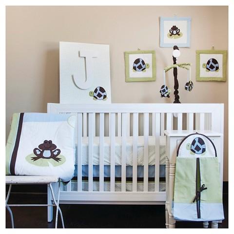 Pam Grace Creations 10pc Crib Bedding Set - Mr. and Mrs. Pond