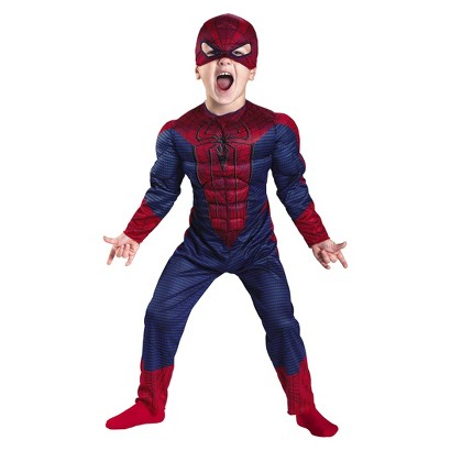 Toddler Boy Spiderman Classic Muscle Costume