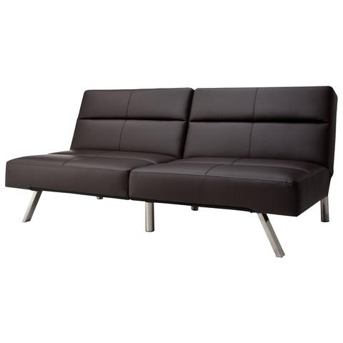 Union Faux Leather Futon
