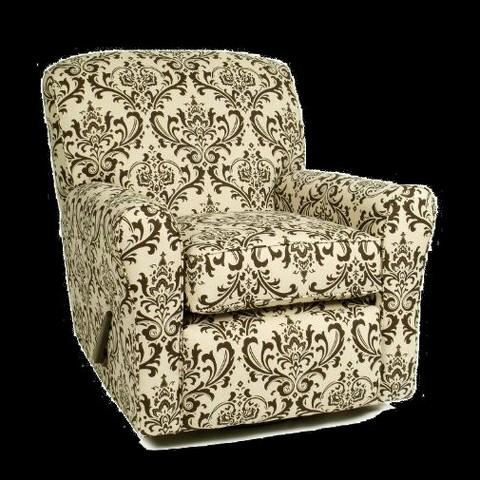 Little Castle Custom Upholstered Crown Linen Bordeaux Reclining Swivel Glider - Assorted