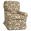 Little Castle Custom Upholstered Crown Linen Bordeaux Swivel Glider - Assorted