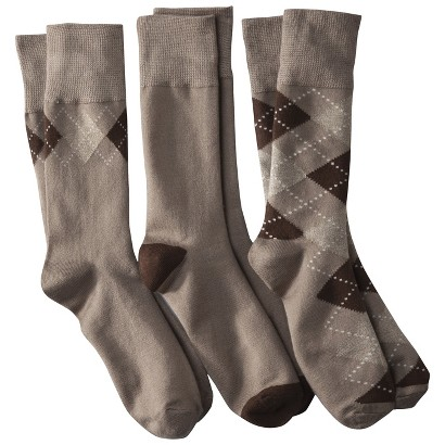 Merona® Men's 3pk Acrylic Socks - Assorted Colors