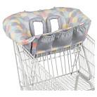 Comfort & Harmony Cozy Cart Shopping Cart Cover - Gray Print