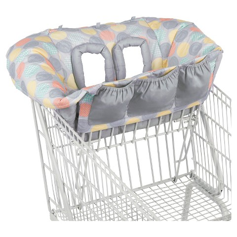 Comfort & Harmony Cozy Cart Shopping Cart Cover - Gray Print