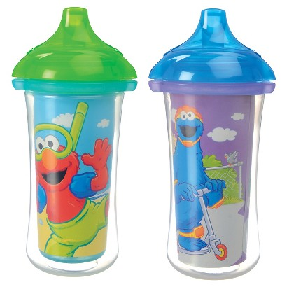 Munchkin 2pk Sesame Street Click Lock Insulated Sippy Cups