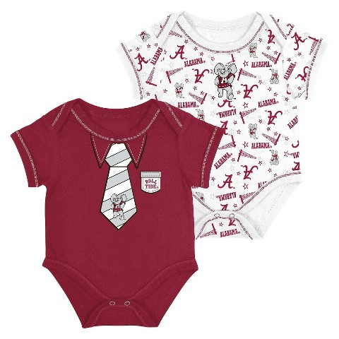 Alabama Crimson Tide Newborn 2pk Body Suit Red
