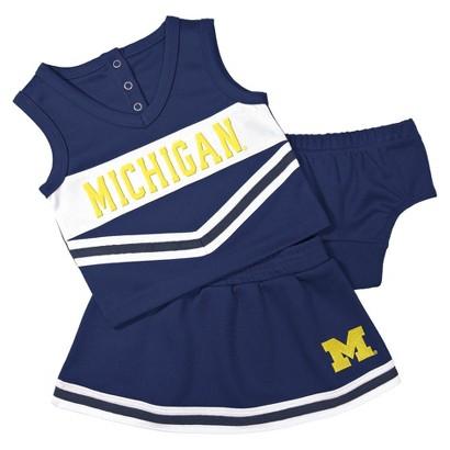 NCAA Toddler Girl's Cheer Set - Michigan