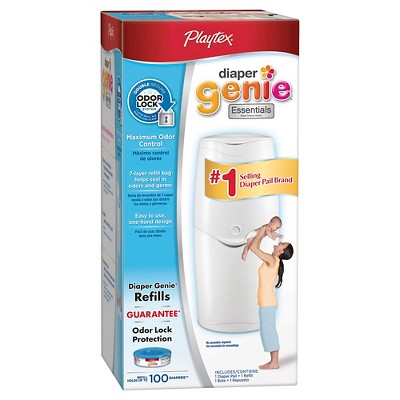 Playtex Diaper Genie Essentials Diaper Pail with 100ct Refill